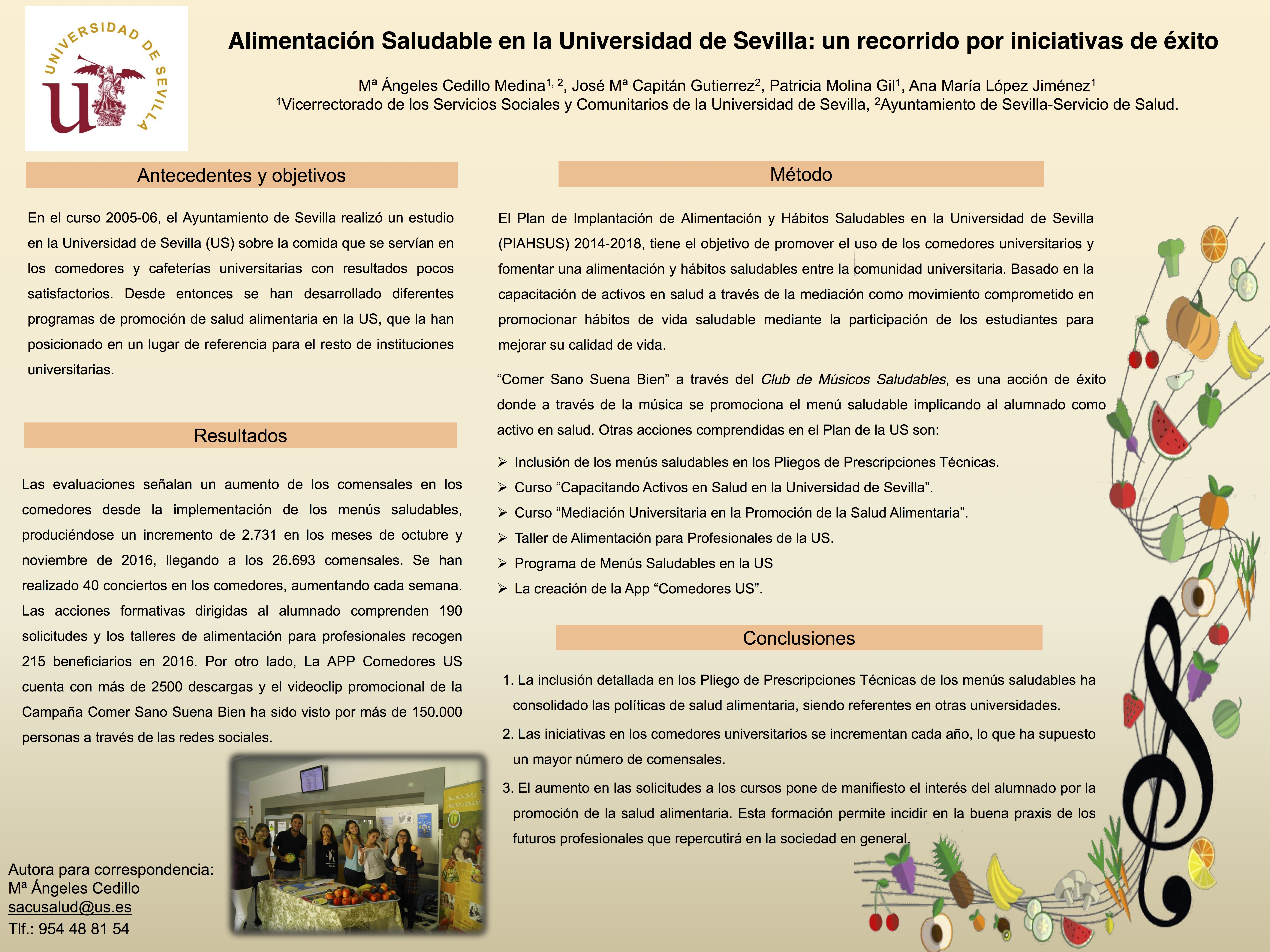Alimentación Saludable en la Universidad de Sevilla: Un recorrido ...