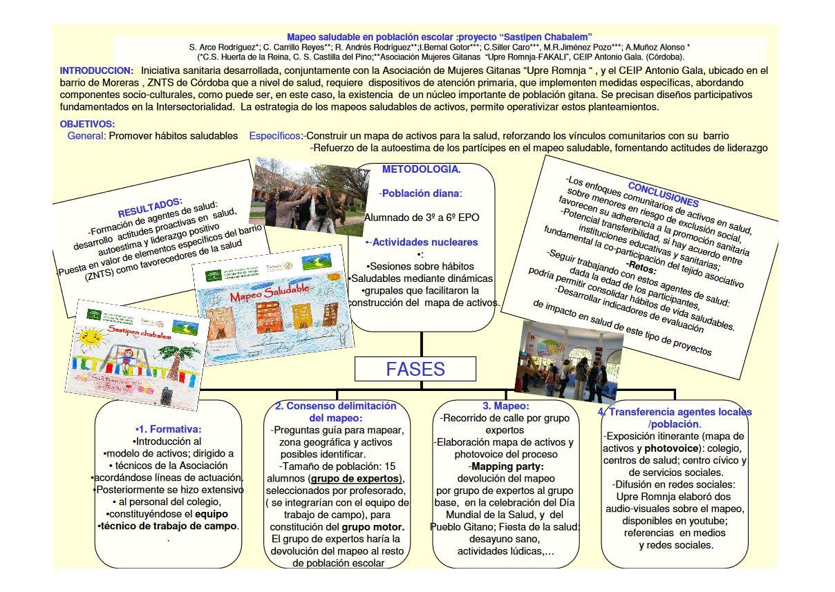 """Mapeo saludable en población escolar de Moreras: proyecto """"Sastipem Chabalem"""""""