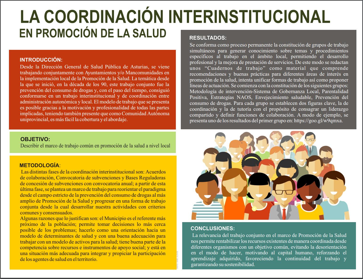 La coordinación interinstitucional en promoción de la salud