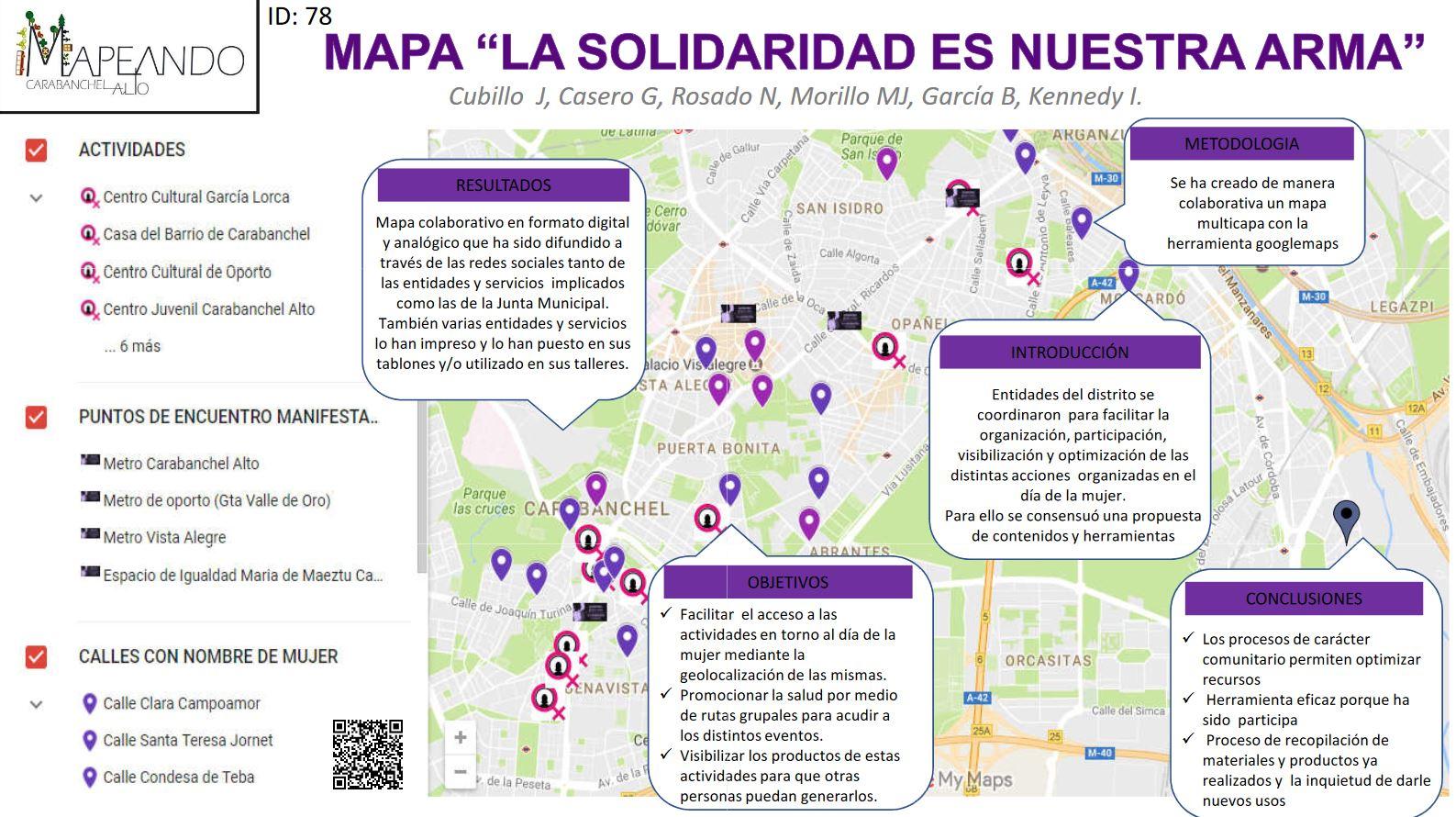"""Mapas de mujeres: """"La solidaridad es nuestra arma"""""""