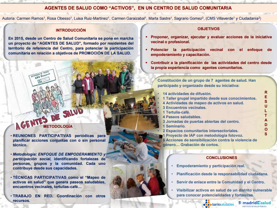 Agentes de salud como activos, en un centro de salud comunitaria