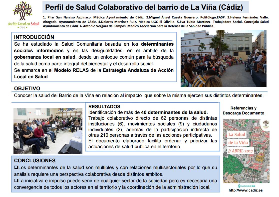 Experiencia de elaboración colectiva del Perfil de Salud del barrio de La Viña (Cádiz)