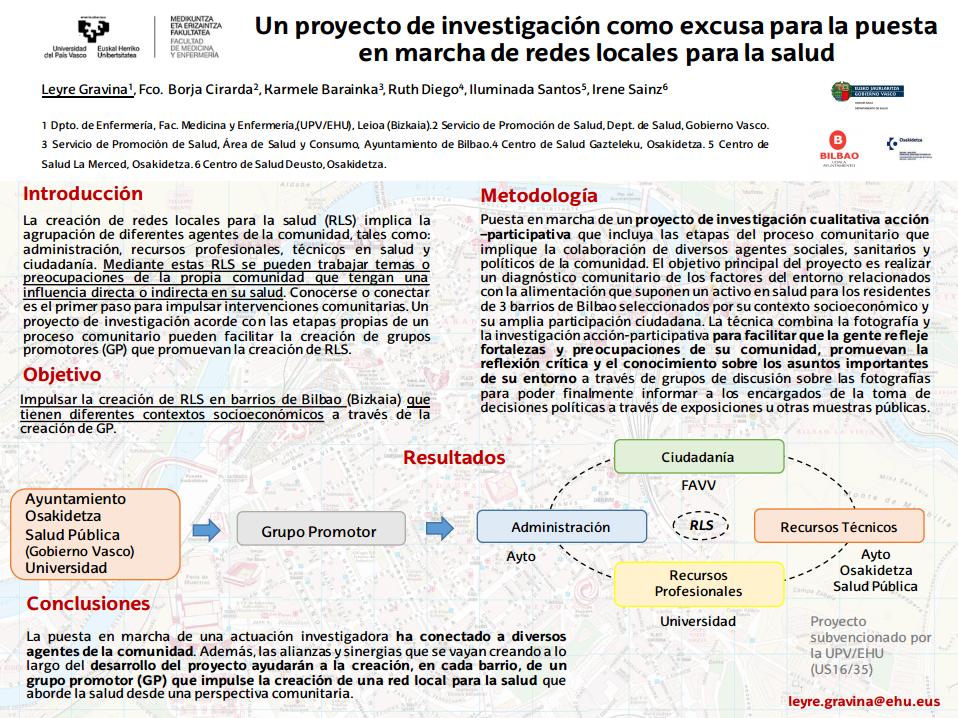 Un proyecto de investigación como excusa para la puesta en marcha de redes locales para la salud